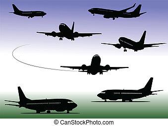 シルエット, 飛行機