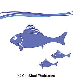 シルエット, fish