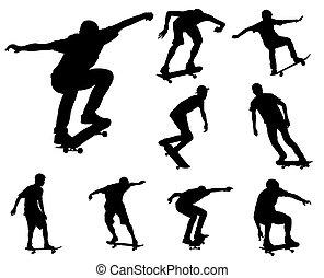 シルエット, skateboarders