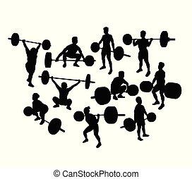 シルエット, weightlifter
