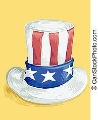 シルクハット, アメリカの旗