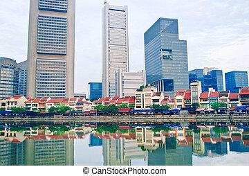 シンガポール, ボート, 波止場