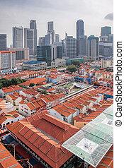 シンガポール, chinatown, ∥で∥, 現代, スカイライン