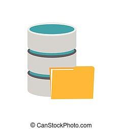 シンボル, の, データベース, storage.