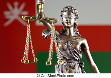 シンボル, の, 法律, そして, 正義, ∥で∥, oman, flag., 終わり, 。