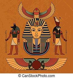 シンボル, イラスト, 古代, egypt., ベクトル