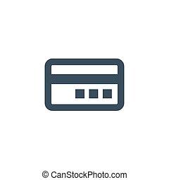 シンボル。, イラスト, 支払い, icon., ベクトル, クレジットカード