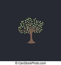 シンボル, コンピュータ, 木, かえで