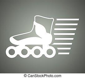 シンボル, スケート, スピード, ローラー