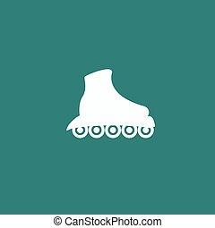 シンボル, スケート, icon., ローラー スケート