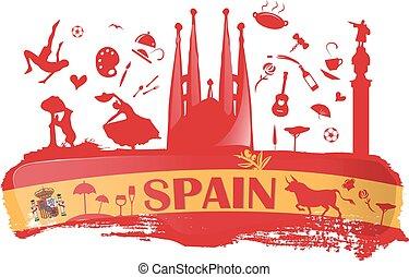 シンボル, スペインの旗, 背景