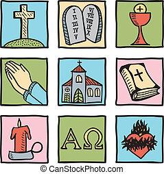 シンボル, セット, キリスト教