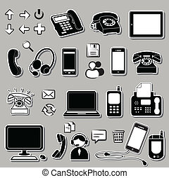 シンボル, セット, 電子