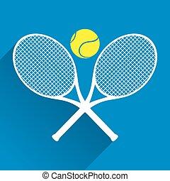 シンボル, テニス, すてきである