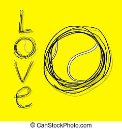 シンボル, テニス, 愛, すてきである