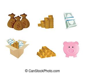 シンボル, デザイン, 貨幣である, イラスト