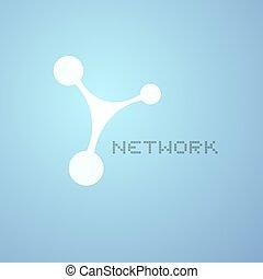 シンボル, ネットワーク, すてきである