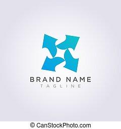 シンボル, ベクトル, デザイン, 矢, ロゴ, アイコン