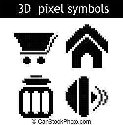 シンボル, ベクトル, ピクセル