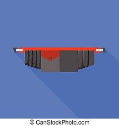 シンボル。, ベクトル, 写実的な 設計, illustration., ベルト, 道具, toolbag, 株