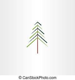 シンボル, ベクトル, 木, クリスマス, イラスト