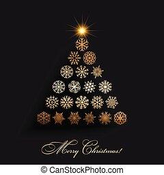シンボル, ベクトル, 木, クリスマス