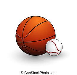シンボル, ボール, 野球, バスケットボール, セット