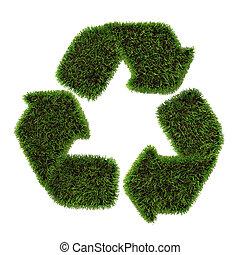シンボル, リサイクル, 草