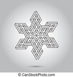 シンボル, 不可能, 生活, バックグラウンド。, signes, 神聖, ベクトル, 灰色, 情報通, 花, シンボル...