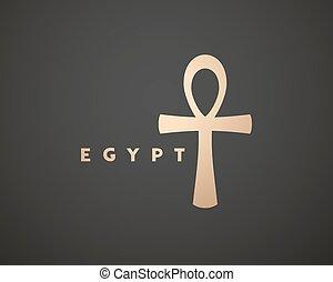 シンボル, 優雅である, 金, エジプト