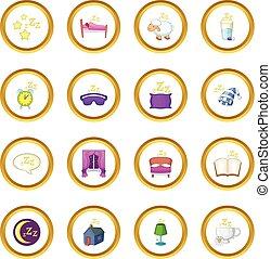 シンボル, 円, 睡眠, アイコン