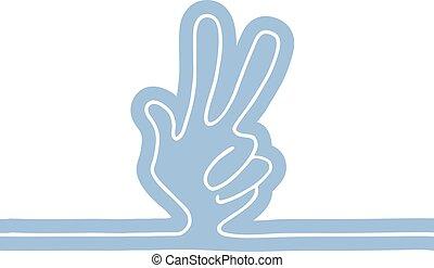 シンボル, 勝利, 手