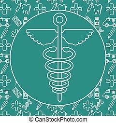 シンボル, 医学, caduceus
