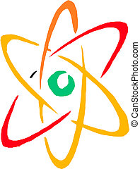 シンボル。, 原子, vector.