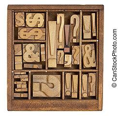 シンボル, 句読点, タイプ, 凸版印刷