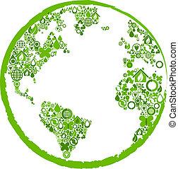 シンボル, 地球, 生態学的, 緑