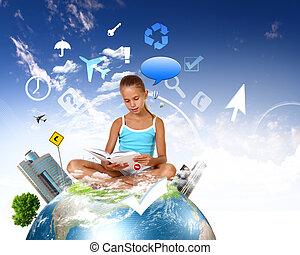 シンボル, 学校, オブジェクト, 教育, 女の子