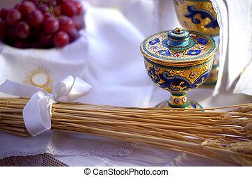 シンボル, 宗教, bread, :, ワイン