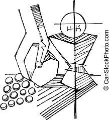 シンボル, 宗教, eucharist, キリスト教徒