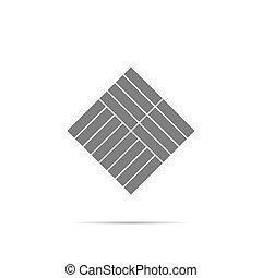 シンボル, 寄せ木張りの床, 影, アイコン