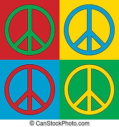 シンボル, 平和, 芸術, ポンとはじけなさい, アイコン