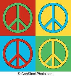 シンボル, 平和, 芸術, ポンとはじけなさい, icons.
