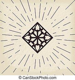 シンボル, 幾何学的, アジア人