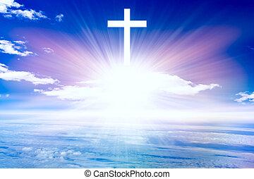 シンボル, 形, 交差点, heavenly, 宗教