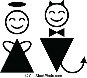 シンボル, 悪魔, 天使