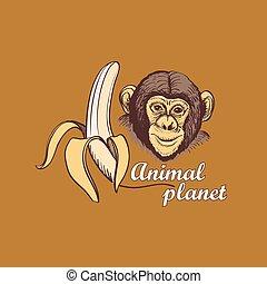 シンボル, 惑星, デザイン, 動物, ロゴ, あなたの