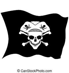 シンボル, 愉快なroger, 海賊, 頭骨
