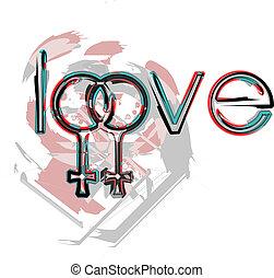 シンボル, 愛, レズビアン