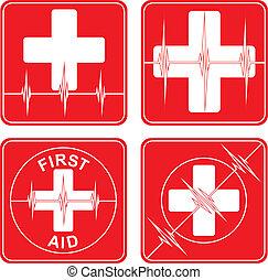 シンボル, 援助, 医学, 最初に