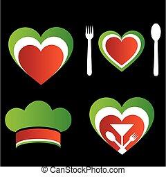 シンボル, 料理, イタリア語